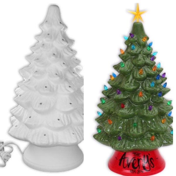 Ceramic Christmas Trees All Fired Up Studio