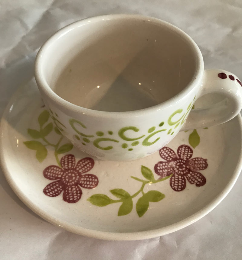 Hand Painted teacup for mother-daughter event